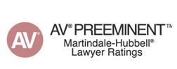 Brad Denton of Denton Peterson is a Martindale Hubbell AV Pre-eminent Rated lawyer